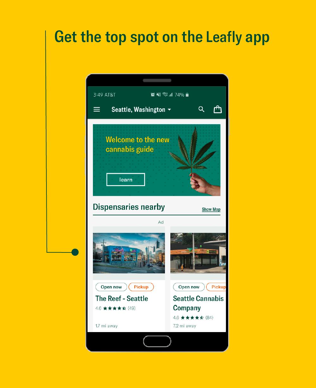 Platinum Placement Leafly app